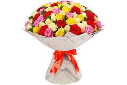 Букеты из роз, гербер и альстромерий со скидкой до 50% от цветочного салона Magic Flower