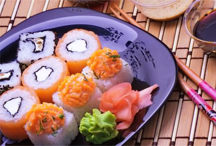 Суши и роллы от ресторана доставки Sunday sushi со скидкой 50%