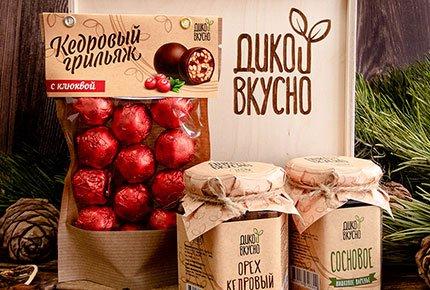 Натуральные продукты и сладости с кедровыми орешками и сибирскими ягодами от компании «Дико Вкусно» со скидкой 50%