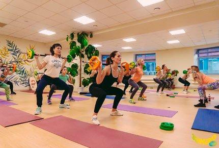 Абонемент на 12 направлений йоги, фитнеса и танцев со скидкой 50% в Banana Land