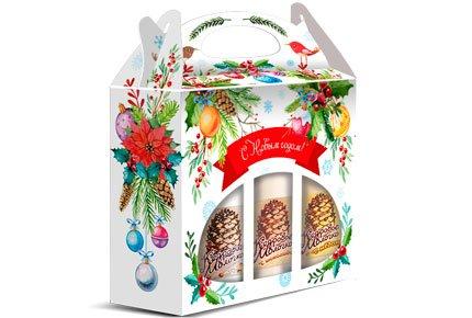 """Новогодний подарочный набор """"Кедровое молочко"""" от ТПК САВА со скидкой 50%"""