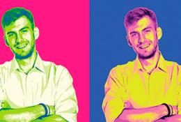 Поп-арт портрет в электронном виде со скидкой 50%
